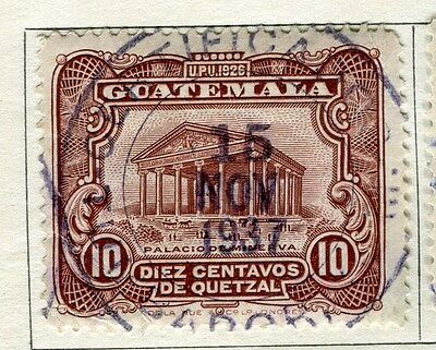 GUATEMALA;   1929 early pictorial issue fine used 10c. value