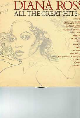 Diana Ross Lp Album All The Great Hits