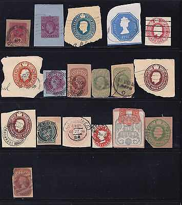 Great Britain Old Used Stamps-Square Cuts