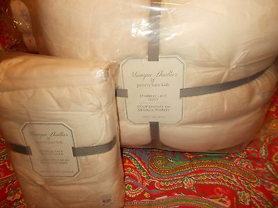 Pottery Barn Kids Monique Lhuillier Ethereal Lace Quilt, Twin, Sham, Blush Pink