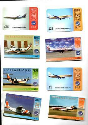 10 D.i.t  Phone Cards Showing Various Airlines  Inc International Mint Unused