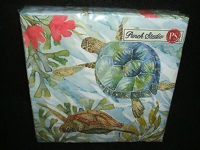Oceana Turtles paper luncheon napkins Punch Studio USE FOR DECOUPAGE