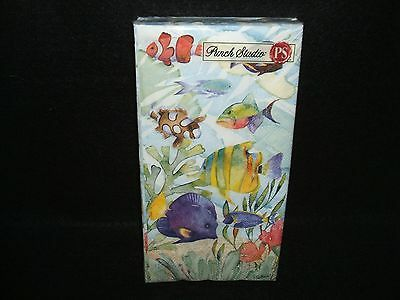 Oceana Fish Ocean paper guest towel napkins Punch Studio USE FOR DECOUPAGE
