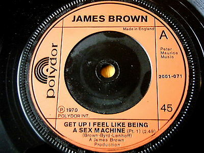 "James Brown - Get Up I Feel Like Being A Sex Machine  7"" Vinyl"