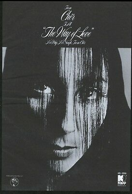 1972 Cher COOL photo The Way of Love song release music trade print ad