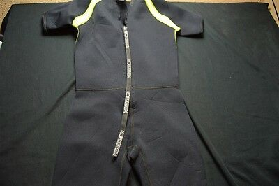 Henderson Dive Suit Large Youth Black Neon Yellow/Green