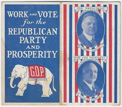 1928 Herbert Hoover and GOP Pennsylvania Ticket Election Sewing Kit