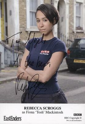 SIGNED EastEnders Rebecca Scroggs Fiona Tosh Mackintosh Official Card Autograph