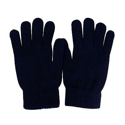 Men's Everyday Winter Thick Knit Thinsulate 3M Warm Snow Ski Gloves Navy M/L