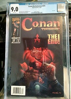 Conan the Barbarian #275 CGC 9.0 White pages last issue low print run