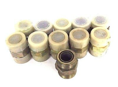 """Lot Of 11 New Parker 316 Ss O Ring Seal Union Fittings 1-7/16"""" Male Npt Conn."""