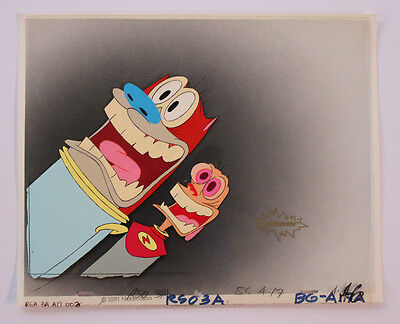 Ren & Stimpy Space Madness Production Cel Cell And Nickelodeon Animation Art