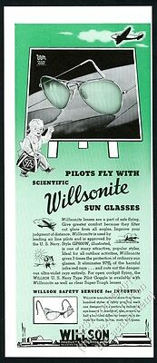 1941 Willson Willsonite sunglasses sun glasses vintage print ad