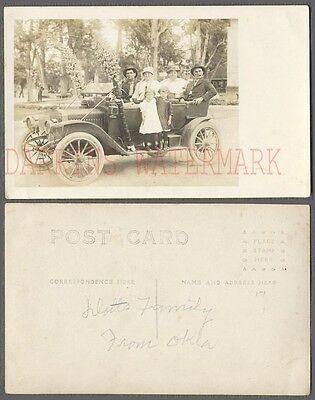 Vintage Car Photo Postcard Family in 1912 Maxwell Automobile 740033
