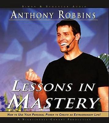 NEW Lessons in Mastery By Anthony Robbins Audio CD Free Shipping