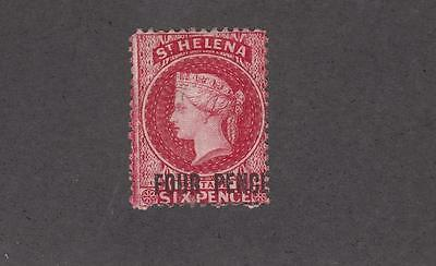 ST HELENA # 21 4p LIGHT USED SURCHARGE CAT VALUE $72.50