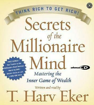 NEW Secrets Of The Millionaire Mind By T Harv Eker Audio CD Free Shipping