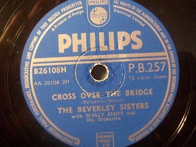 """THE BEVERLY SISTERS """"Somebody Bad Stole De Wedding Bell / Cross Over The Bridge"""""""
