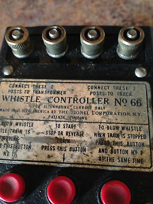 Lionel Electric Trains Whistle Controller No 66