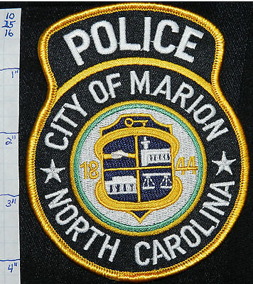 North Carolina, Marion Police Dept Patch