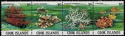 """COOK ISLANDS 564 (SG713a) - South Pacific Corals """"Strip of Four"""" (pa60232)"""