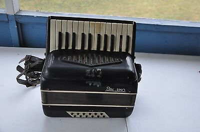 Vintage small accordion Salerno Made In Italy AS IS