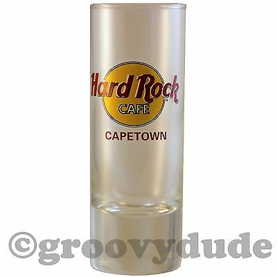 Hard Rock Cafe Red Cape Town Black Circle Tall City Shot Glass Cordial HRC New