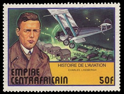 "CENTRAL AFRICAN REPUBLIC 297 - Aviation ""Charles Lindbergh"" (pa75179)"