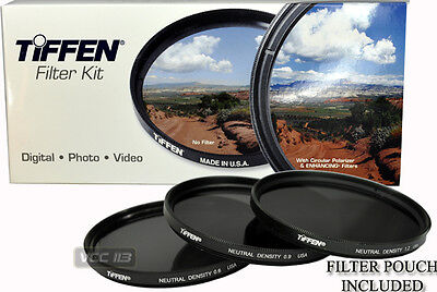 77mm TIFFEN Filter Kit ND NEUTRAL DENSITY 0.6 +0.9 +1.2 ND4 ND8 ND16 Made in USA