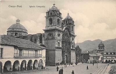 CUZCO, PERU ~ CATHEDRAL & OTHER BUILDINGS, STREET VIEW ~ c. 1904-14