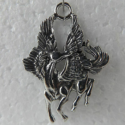 Pegasus Flying Pewter Pendant Made in Australia 1 bail For Necklace Keyring