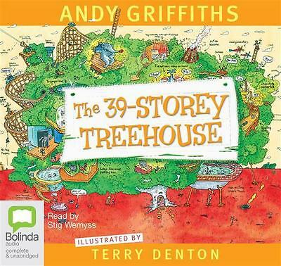 NEW The 39-Storey Treehouse By Andy Griffiths Audio CD Free Shipping