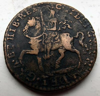 Scarce Good Grade 1690 James Ii Gunmoney Crown Overstruck On Halfcrown