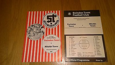 1976-77 Swindon Town v Hitchin Town - FA Cup both games