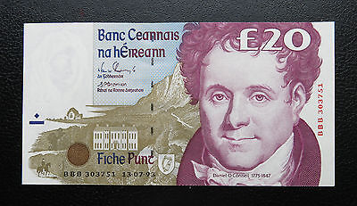 aUNC 1993 Replacement BBB Ireland eIRE 20 Pound Banknote Pick-77r2