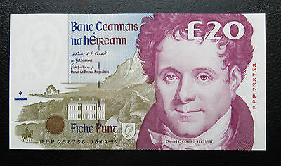 aUNC 1999 Replacement PPP Ireland eIRE 20 Pound Banknote Pick-77r5