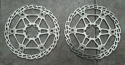 2 Hope Tech 183Mm Floating Saw Brake Disc Rotors Mtb Mountain Bike 6 Bolt Silver