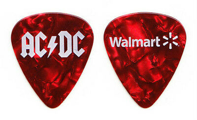 AC/DC Red Pearl Promotional Walmart Guitar Pick - 2008