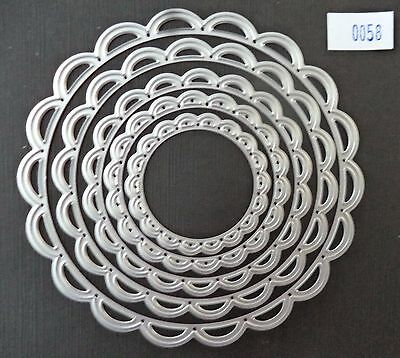 Scalloped Circle Nesting  Die  #058  *new*  Card Making Scrapbooking