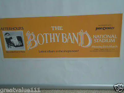 The Bothy Band Concert Gig Poster1979 Dublin Dated Unreleased Valuable Rare Gem