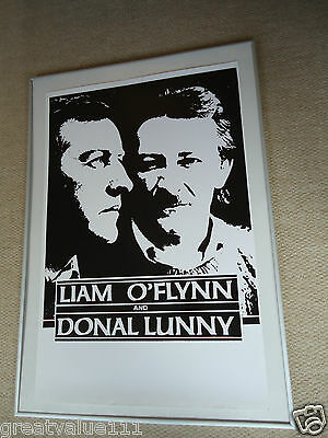 Donal Lunny Planxty Bothy Band Liam O`flynn Gig Poster 1988 Unreleased Mint Gem