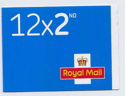 GB 2016 M16L NEW FONT 12 x 2nd SECURITY BACKING PAPER BOOKLET
