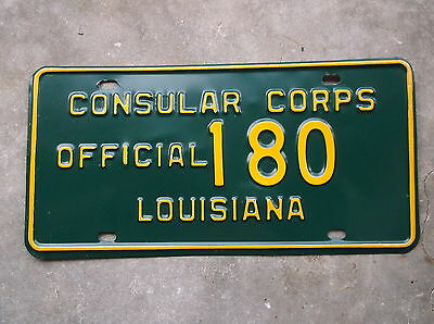 Louisiana C.C. Official License Plate #  180