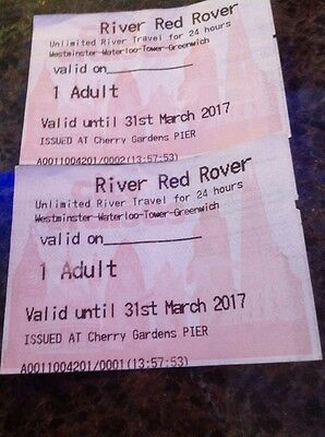 River Trip Unlimited 24hour Rover Tickets London