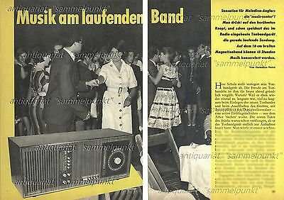 Schaub-Lorenz  Music-Center 5001 Tonband 126 Spuren - Original Bericht von 1965
