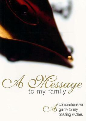 NEW A Message to My Family Paperback Free Shipping