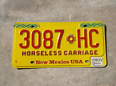New Mexico 2010 Horseless Carriage License Plate  #  3087
