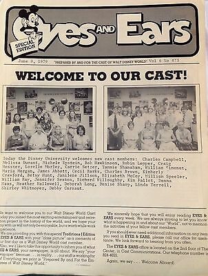 EYES AND EARS, WDW New Cast Special Walt Disney World Newsletter, June 9, 1979