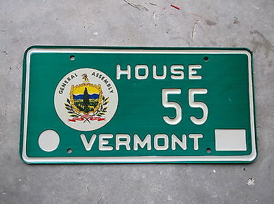 Vermont House License Plate  #  55