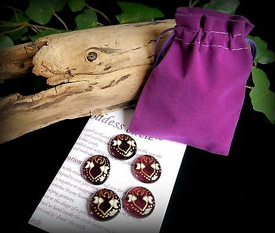 Witches Goddess and Moon Circle Casting set  Wicca Pagan Altar Spell work Gift